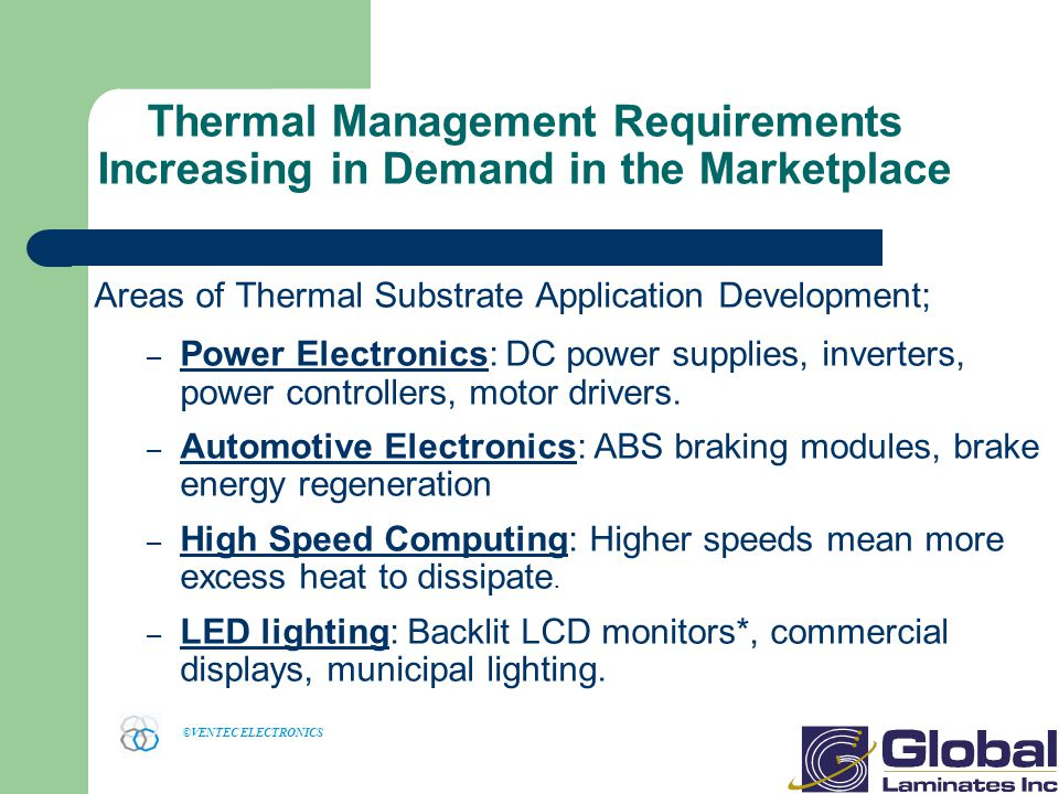 Thermal Management Requirements Increasing in Demand in the Marketplace