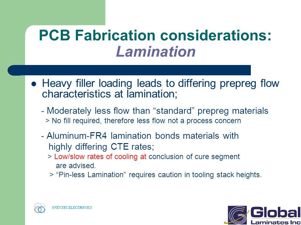 PCB Fabrication considerations: Lamination