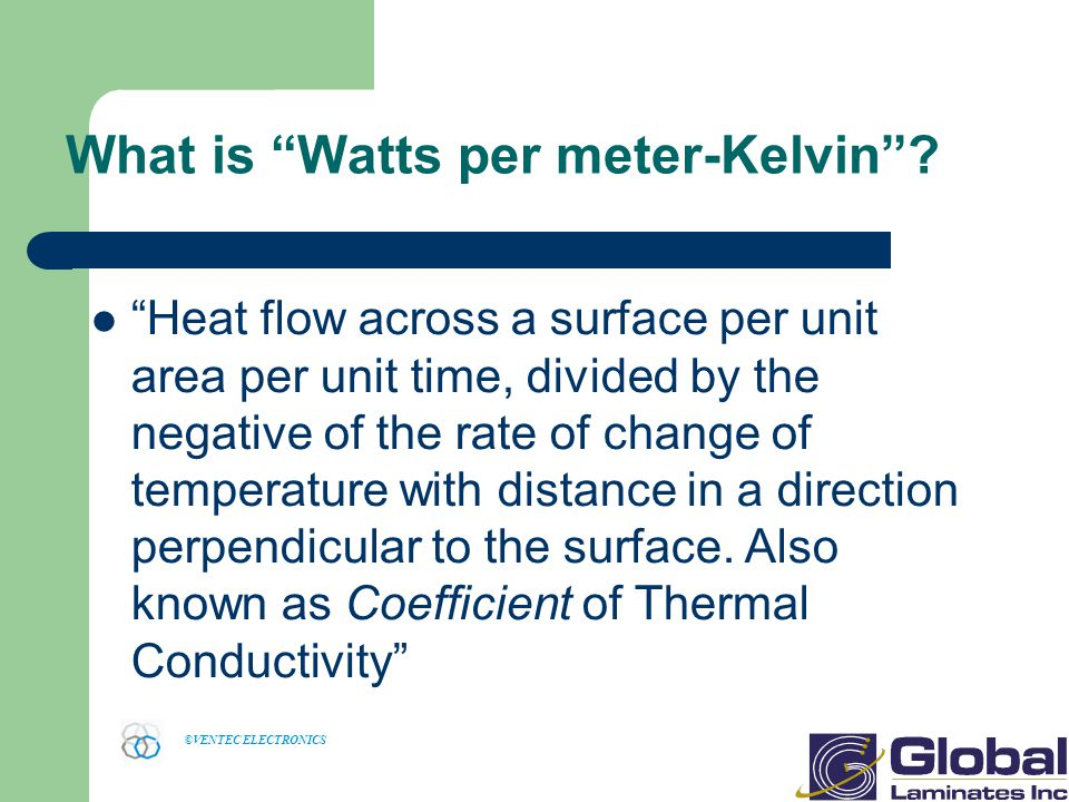 What is Watts per meter-Kelvin
