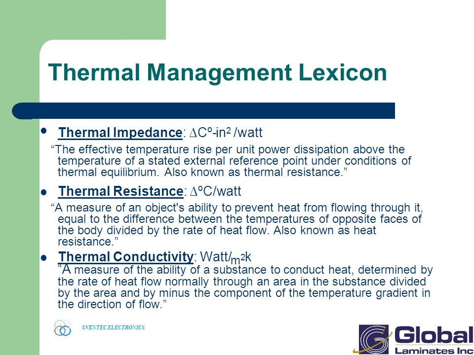 Thermal Management Lexicon