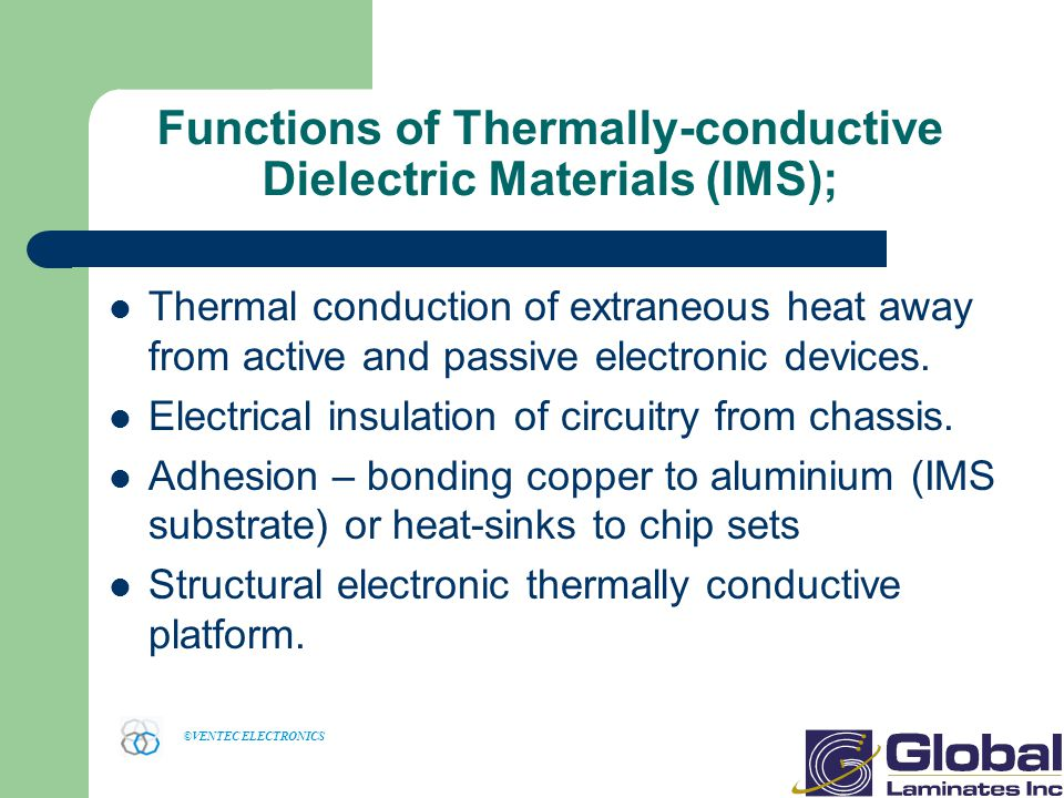 Functions of Thermally-conductive Dielectric Materials (IMS);