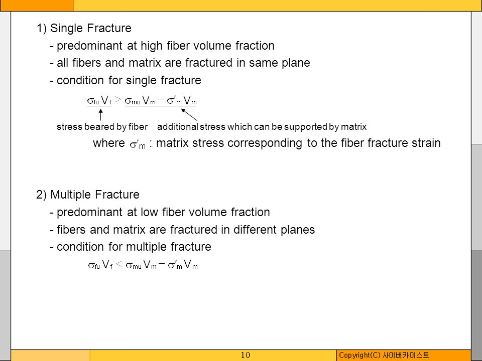 - predominant at high fiber volume fraction