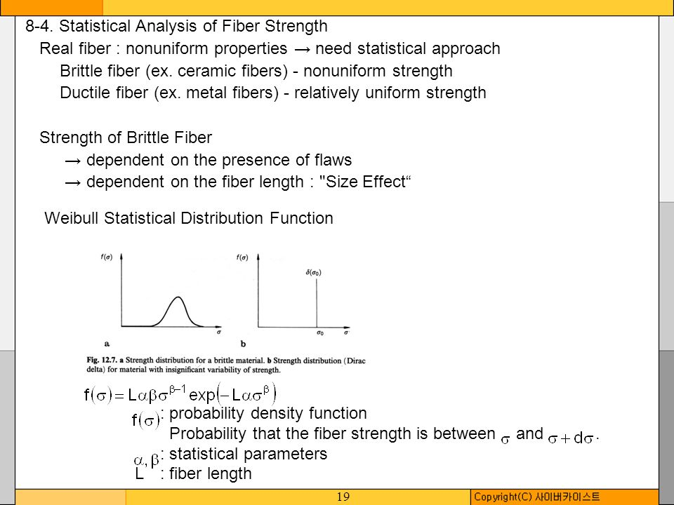 8-4. Statistical Analysis of Fiber Strength