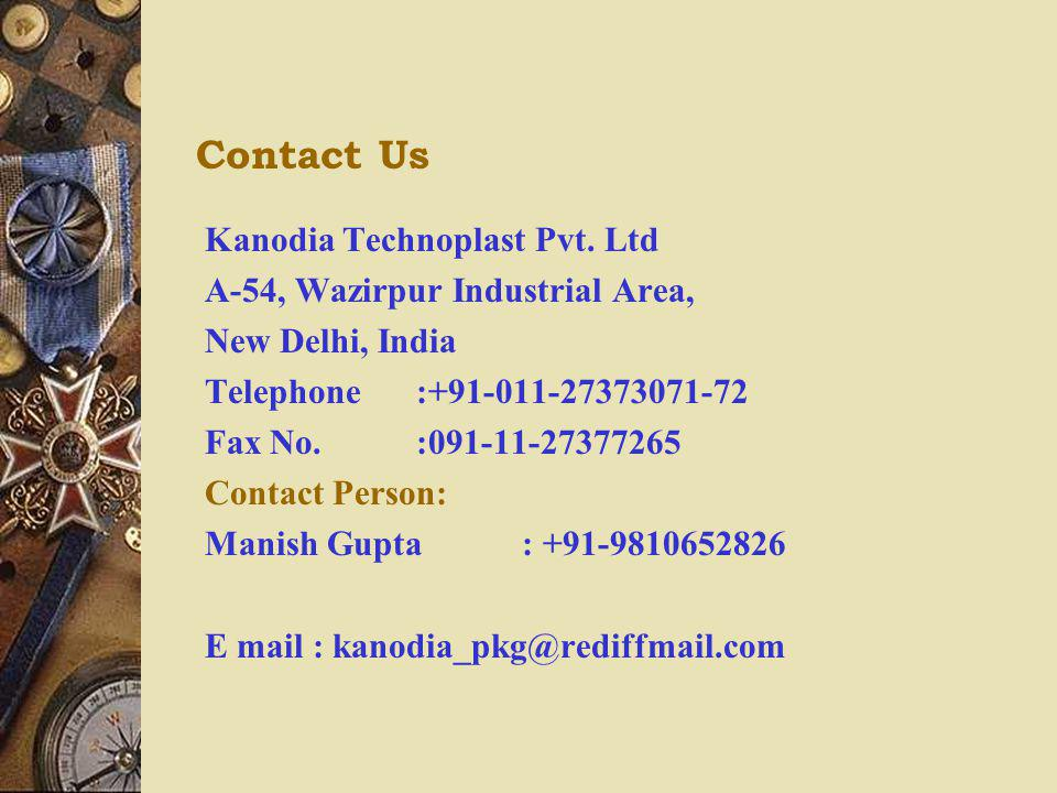 Contact Us Kanodia Technoplast Pvt. Ltd