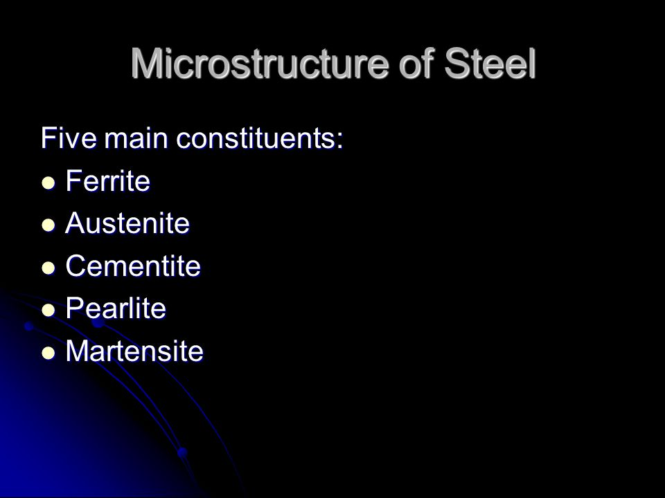 Microstructure of Steel