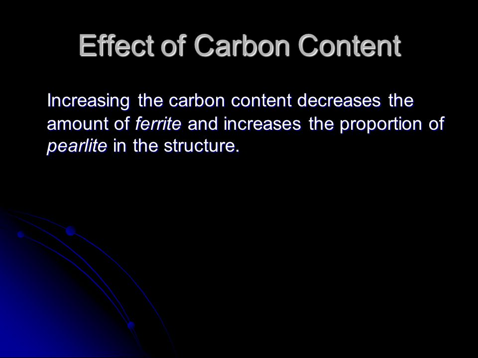 Effect of Carbon Content
