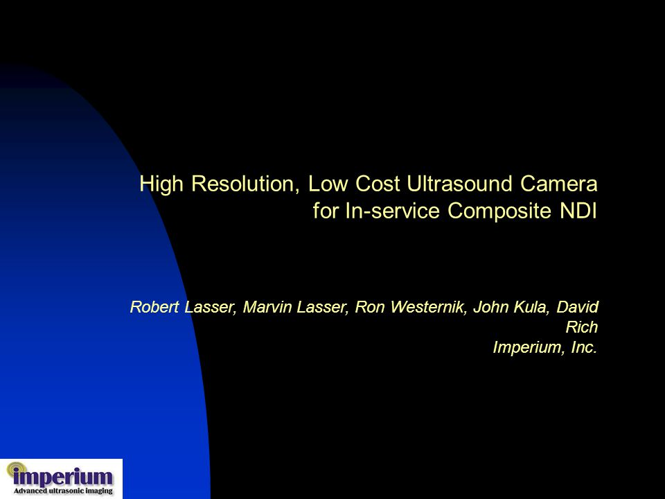 High Resolution, Low Cost Ultrasound Camera for In-service Composite NDI