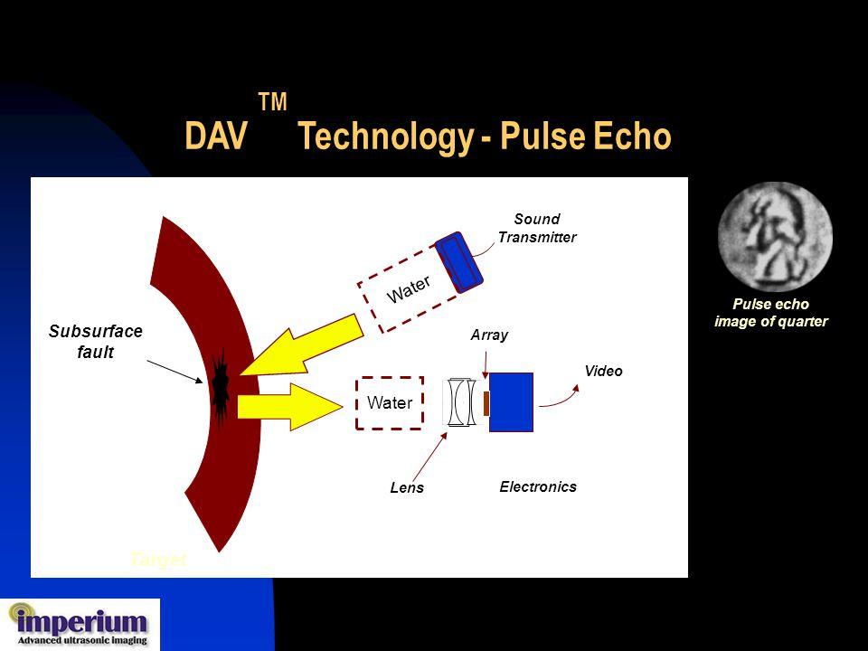 DAV TM Technology - Pulse Echo Pulse echo image of quarter