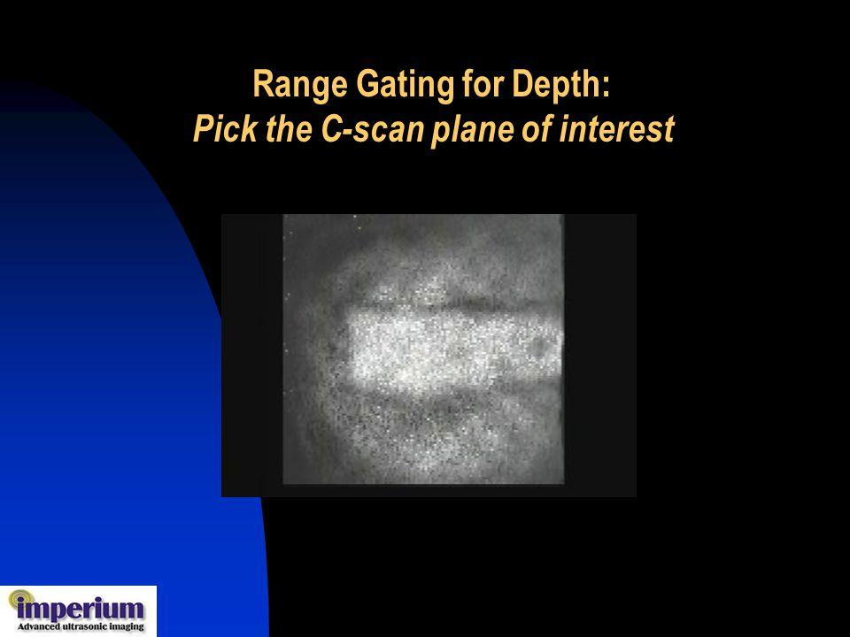 Range Gating for Depth: Pick the C-scan plane of interest