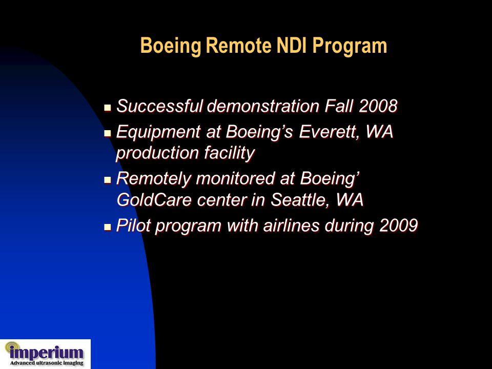 Boeing Remote NDI Program