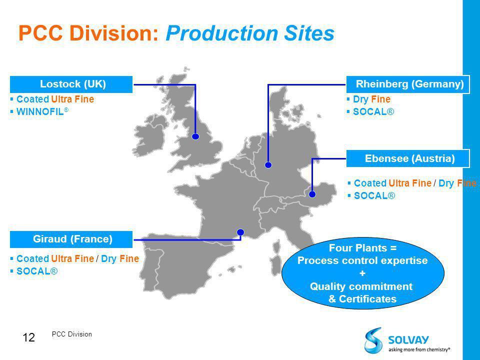 PCC Division: Production Sites