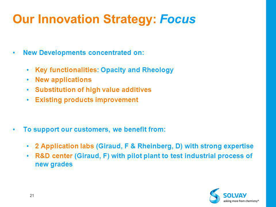 Our Innovation Strategy: Focus