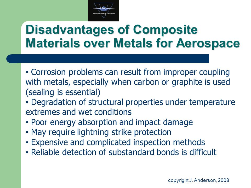 Disadvantages of Composite Materials over Metals for Aerospace