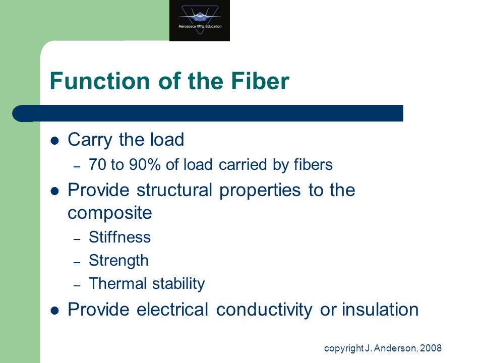 Function of the Fiber Carry the load