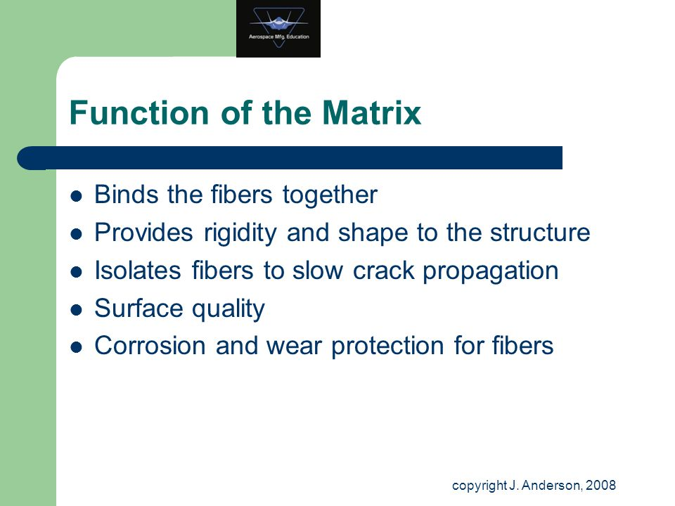 Function of the Matrix Binds the fibers together