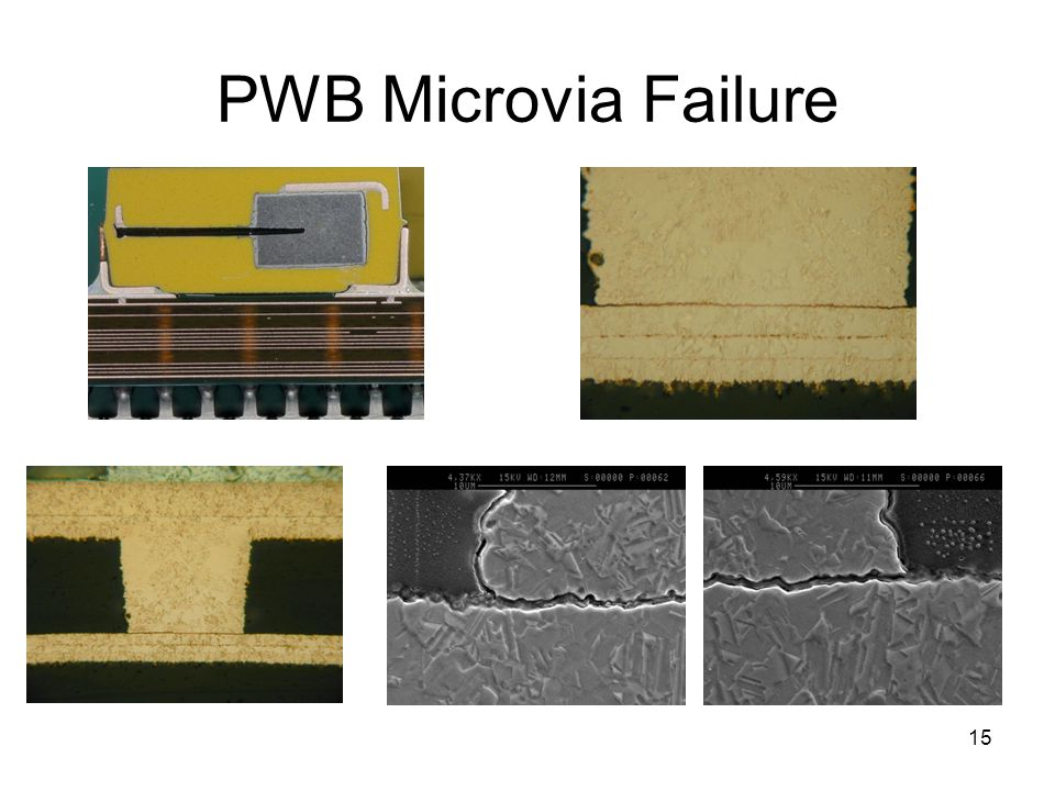 PWB Microvia Failure