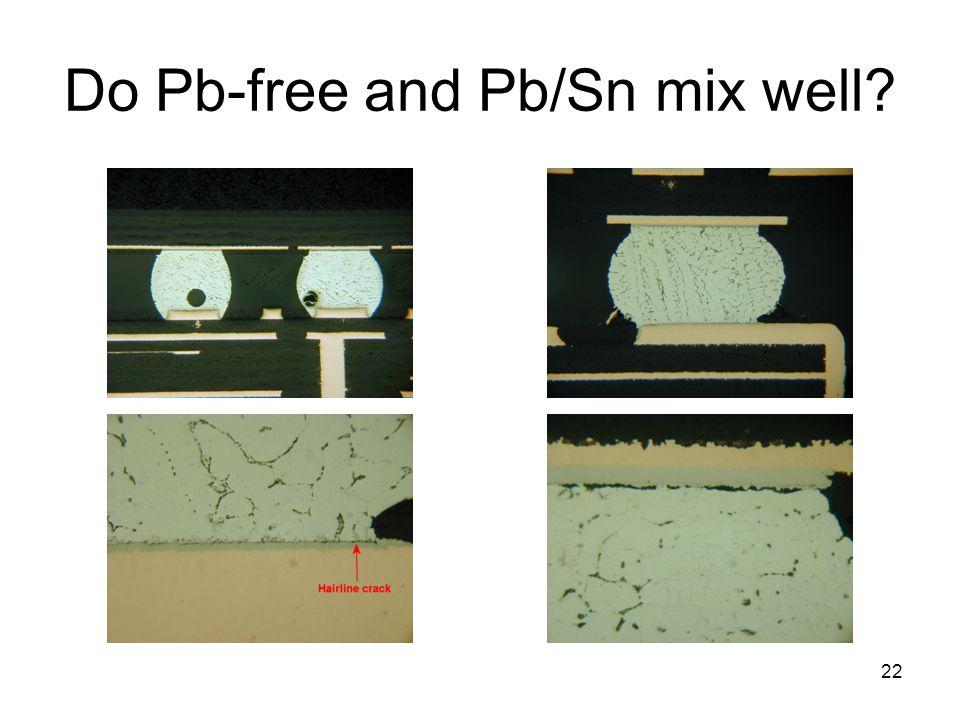 Do Pb-free and Pb/Sn mix well