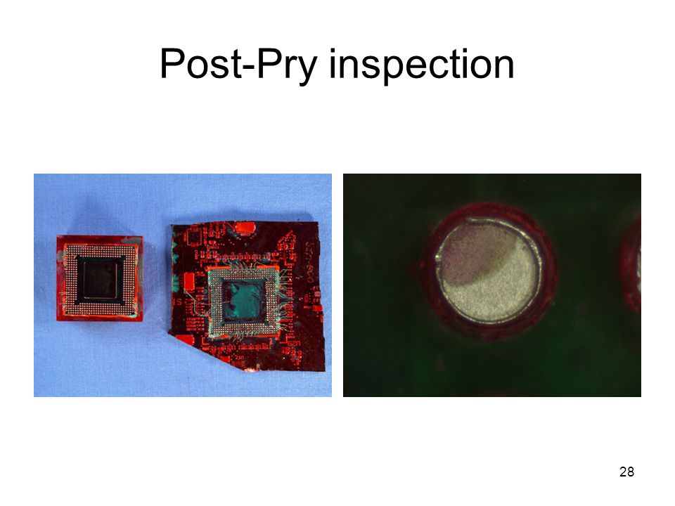 Post-Pry inspection