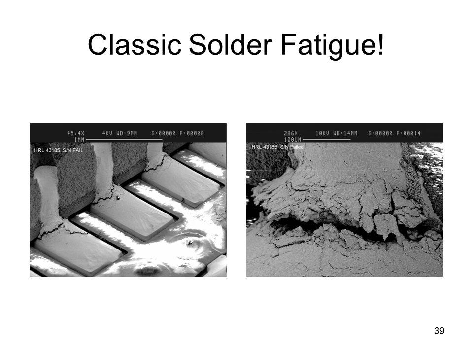 Classic Solder Fatigue!