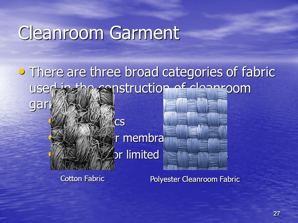 Polyester Cleanroom Fabric