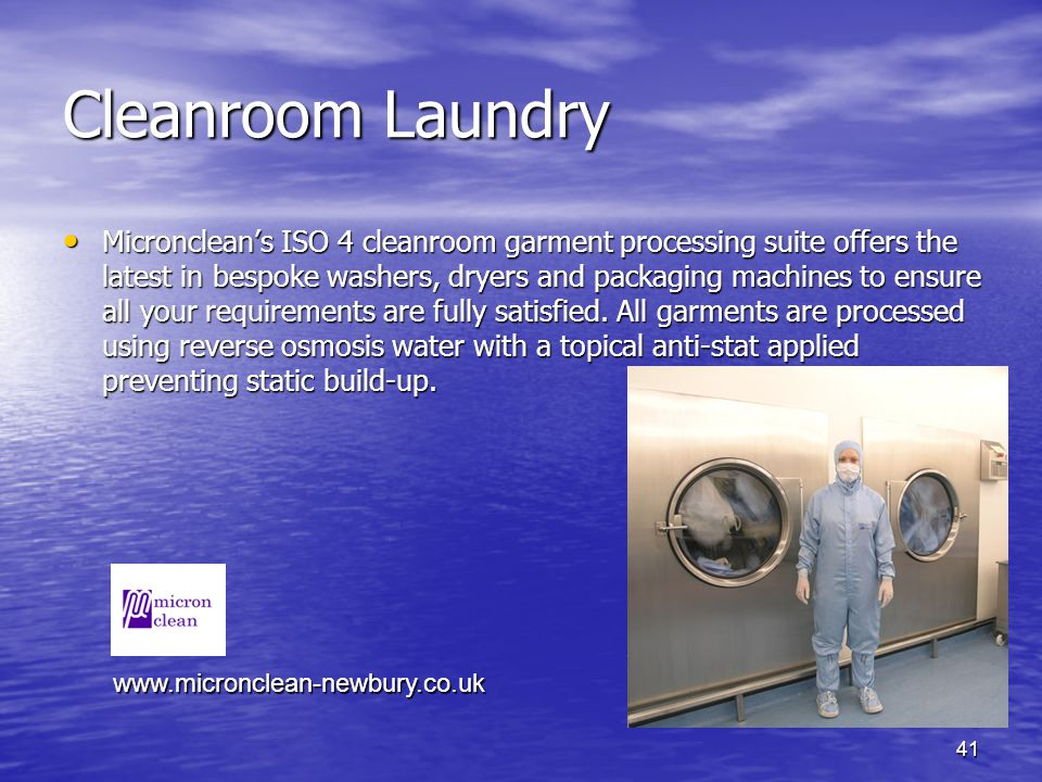 Cleanroom Laundry