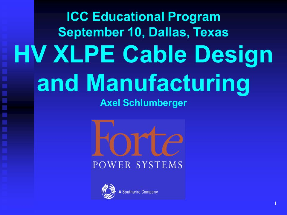HV XLPE Cable Design and Manufacturing