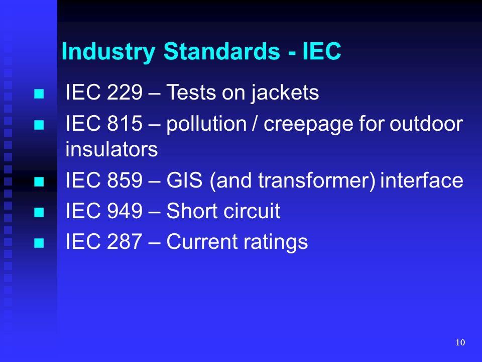 Industry Standards - IEC