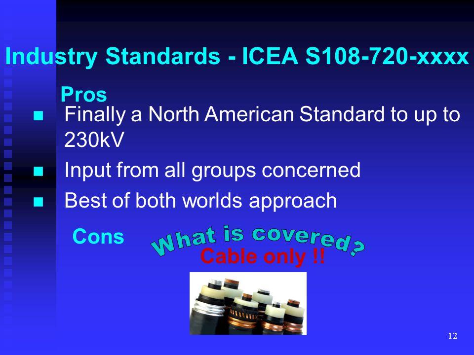 Industry Standards - ICEA S108-720-xxxx