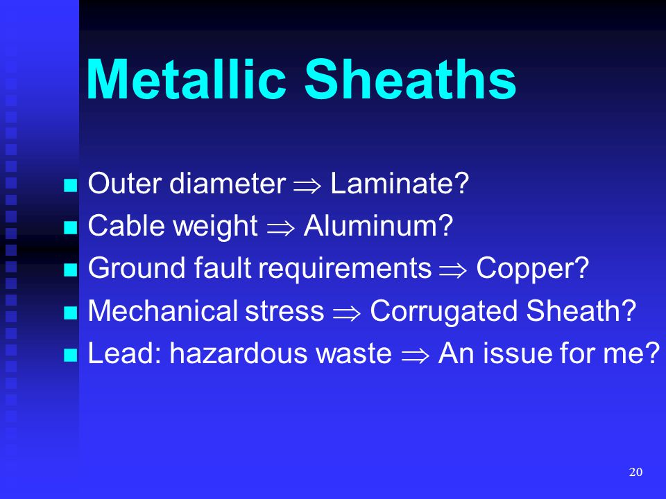 Metallic Sheaths Outer diameter  Laminate Cable weight  Aluminum