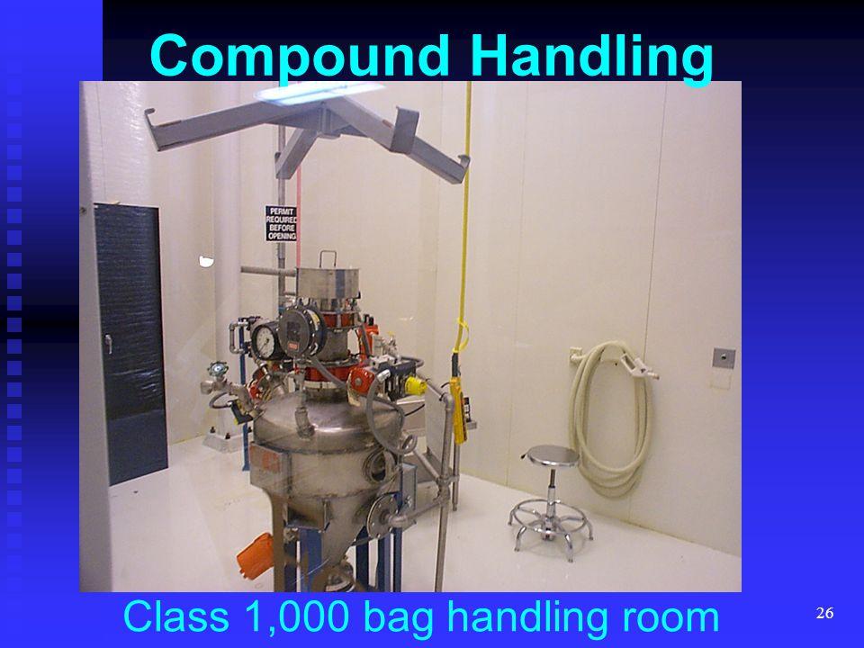 Class 1,000 bag handling room