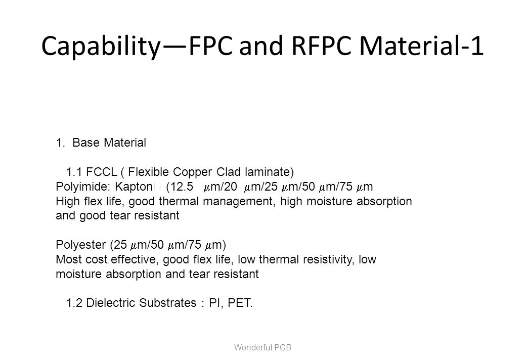 Capability—FPC and RFPC Material-1