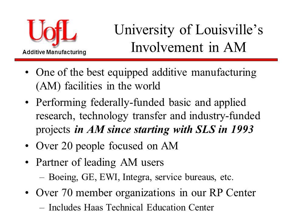 University of Louisville's Involvement in AM