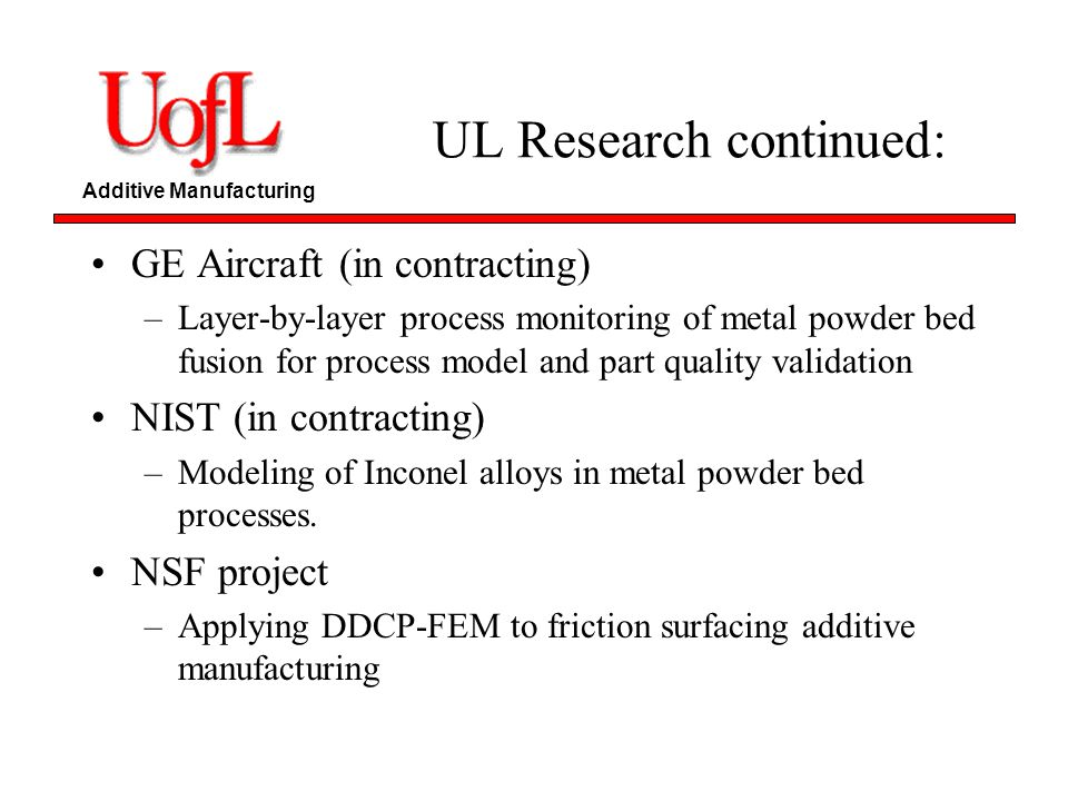 UL Research continued: