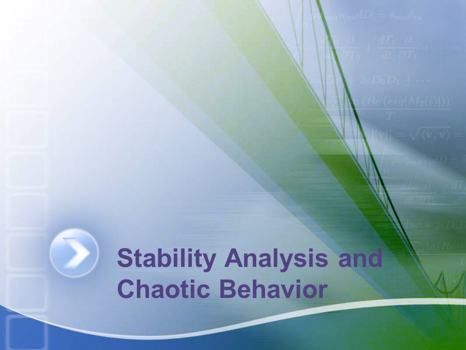 Stability Analysis and Chaotic Behavior