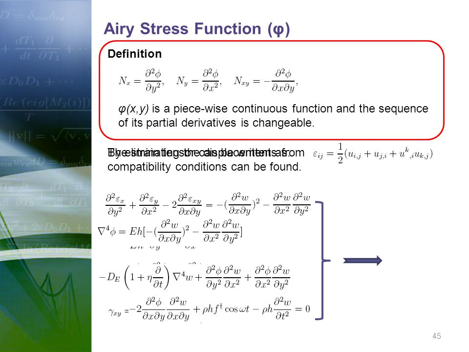 Airy Stress Function (φ)