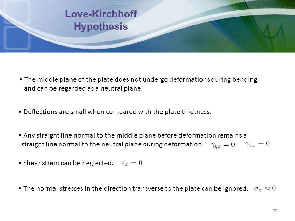 Love-Kirchhoff Hypothesis
