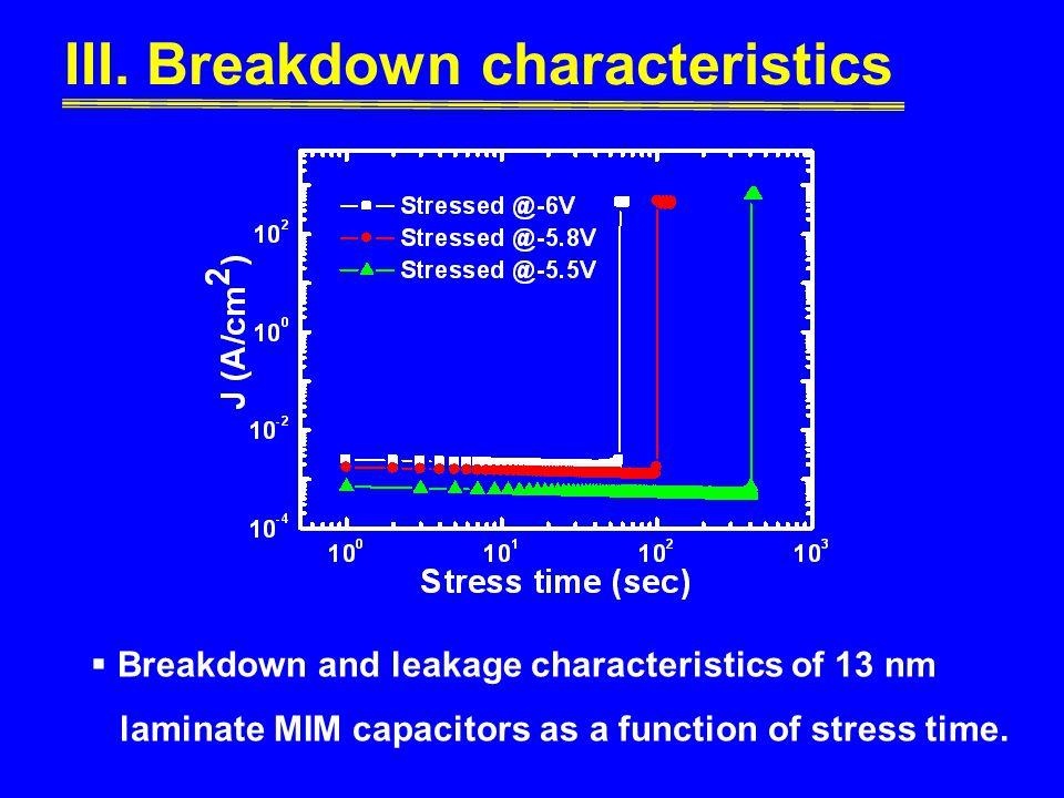III. Breakdown characteristics