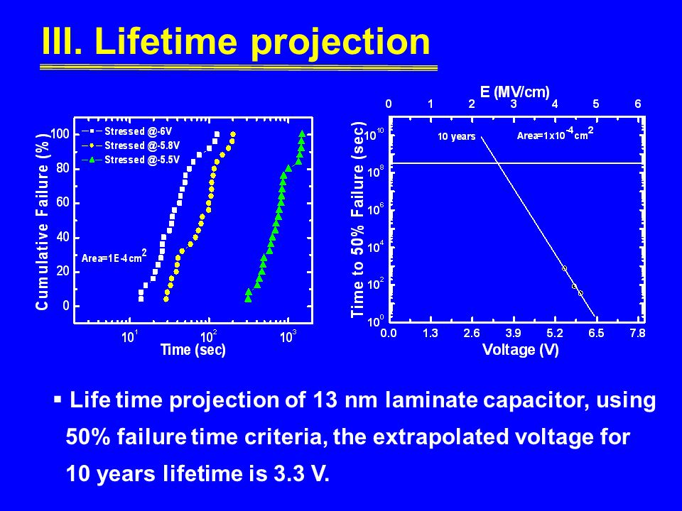 III. Lifetime projection