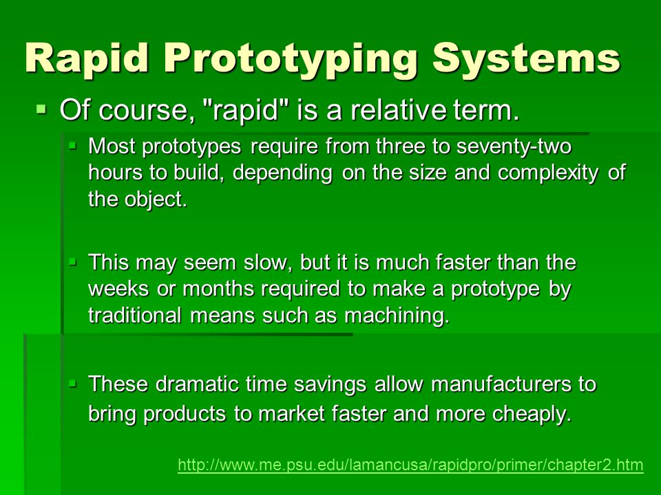 Rapid Prototyping Systems
