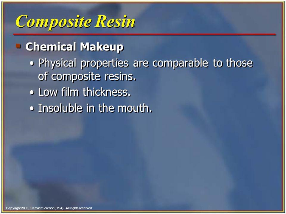 Composite Resin Chemical Makeup