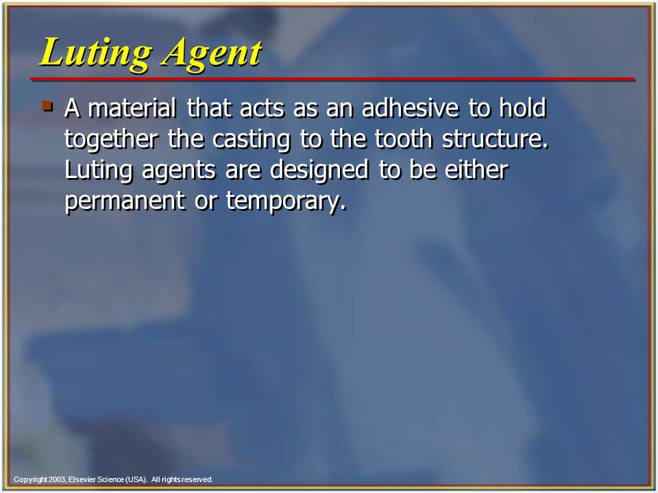 Luting Agent
