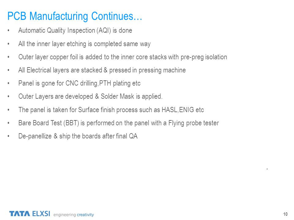 PCB Manufacturing Continues…