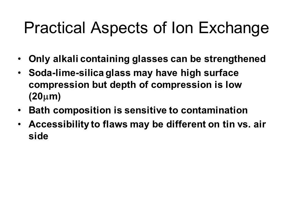 Practical Aspects of Ion Exchange