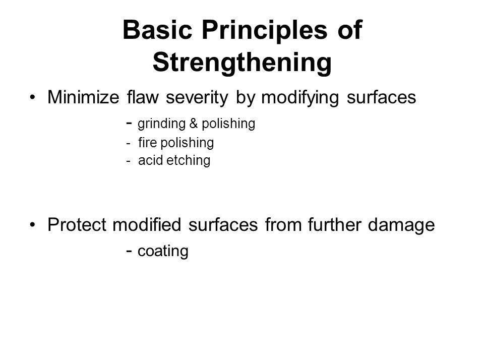 Basic Principles of Strengthening