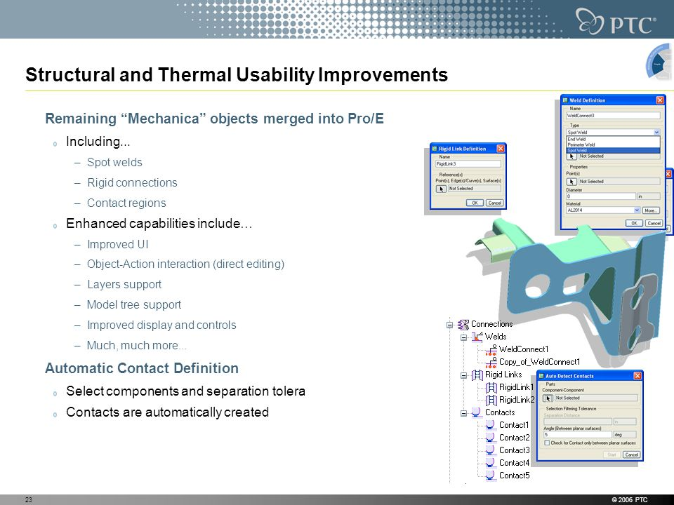 Structural and Thermal Usability Improvements