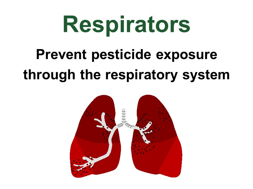 Prevent pesticide exposure through the respiratory system
