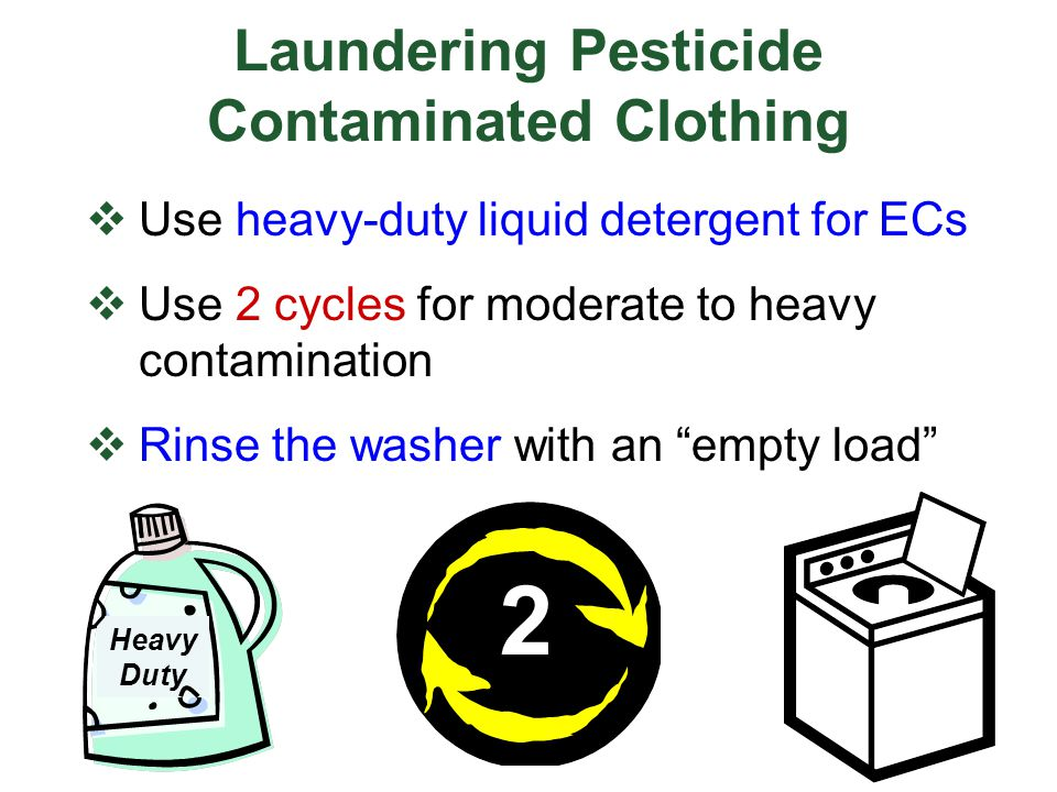 Laundering Pesticide Contaminated Clothing