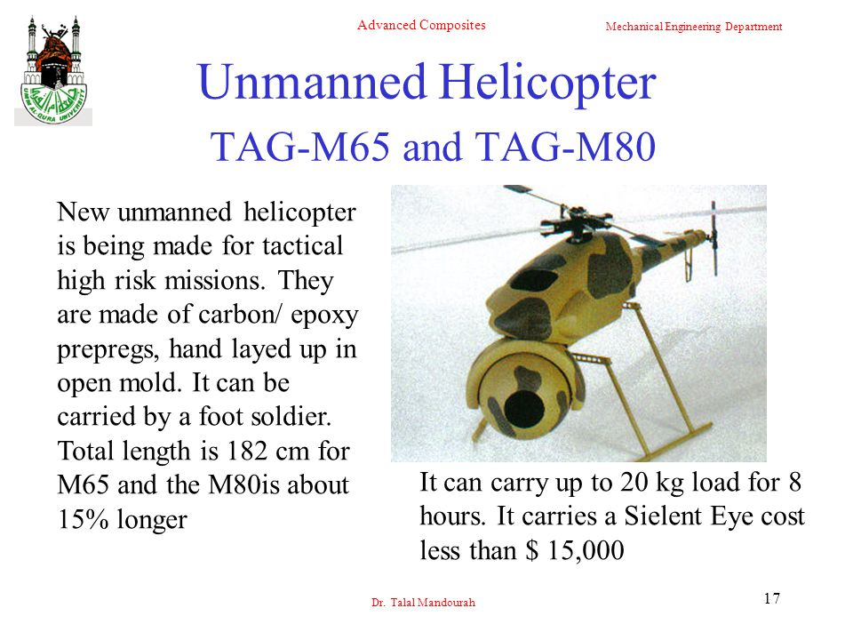 Unmanned Helicopter TAG-M65 and TAG-M80