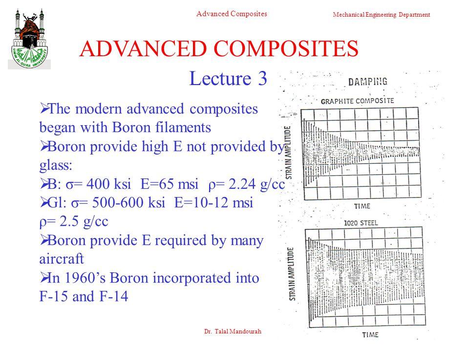 ADVANCED COMPOSITES Lecture 3