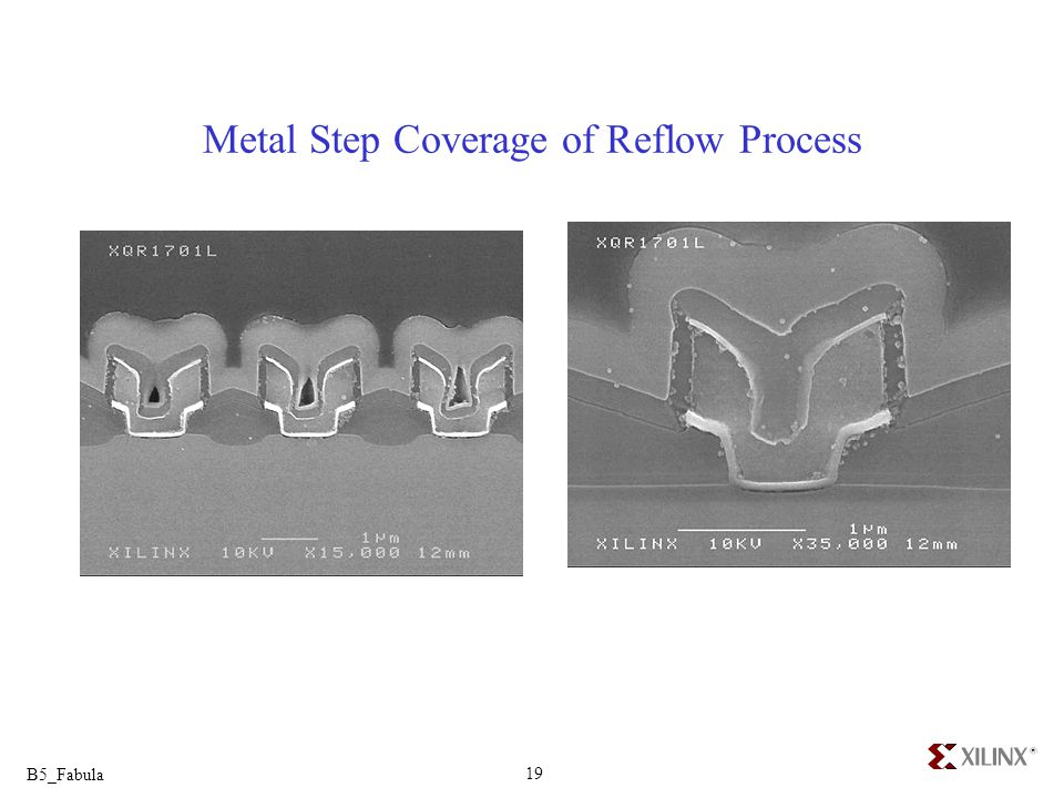 Metal Step Coverage of Reflow Process